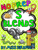 S Blends Worksheets and Activities No Prep Pack (Beginning