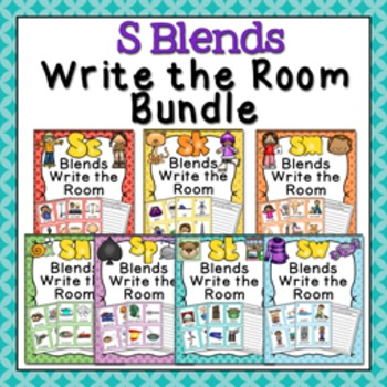 S Blends Write the Room Bundle