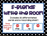 S Blends Write the Room/Word Work Task Cards