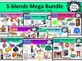 S Blends clipart - Mega bundle of Sc, Sk, Sl, Sm, Sn, Sp, St and Sw