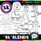 S Blends clipart - Sk words - 19 images! For Personal and