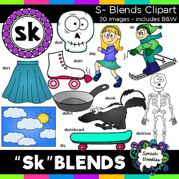S Blends clipart - Sk words - 19 images! Personal and Comm