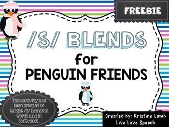 /S/ Blends for Penguin Friends {FREEBIE}