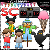 S Blends (sc) Phonics Clip Art - Consonants Clip Art