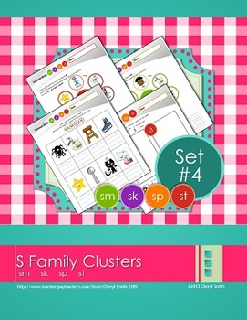 """S"" Family Clusters sm/sk/sp/st  (#4 of 4 Phonemic Awareness Sorts)"