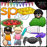S Blends (sp) Phonics Clip Art - Consonants Clip Art