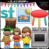 S Blends (st) Phonics Clip Art - Consonants Clip Art