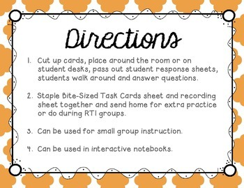 S Blends (st, sp, and sk words) Tiny Task Cards