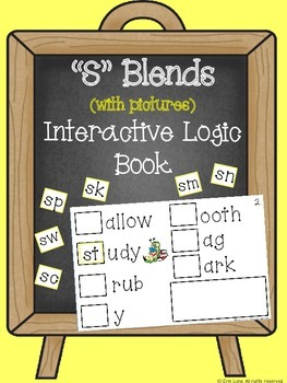 """S"" Blends (with pictures) Interactive Logic Book"