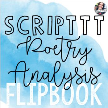 S.C.R.I.P.T.T.T. Poetry Analysis Flipbook