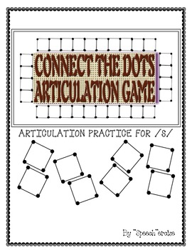 "SPEECH THERAPY CONNECT THE DOTS ""S"" ARTICULATION GAME"