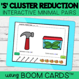 S Cluster Reduction Interactive Minimal Pairs | Boom Cards