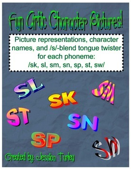S Consonant Clusters--Posters and Tongue Twisters for Arti