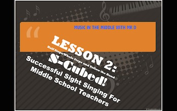 S-Cubed! Lesson 2 Successful Sight Singing for Middle School Beginners