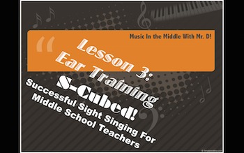 S-Cubed!  Lesson 3  Ear Training  Successful Sight Singing!