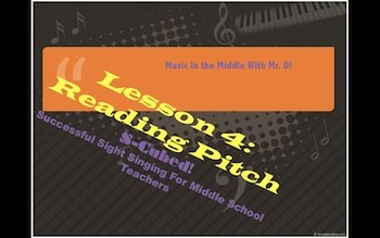 S-Cubed!  Lesson 4:  Reading Pitch  Successful Sight Singing Course