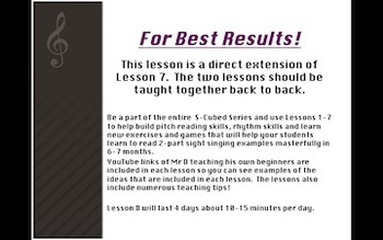 S-Cubed! Lesson 8:  Keepin' 'em Steady Part 2 Successful Sight Singing Course!