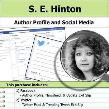 S. E. Hinton - Author Study - Profile and Social Media