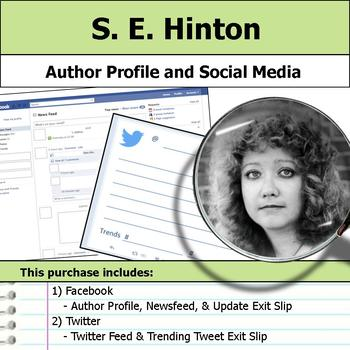 S. E. Hinton - Author Study - Profile and Social Media