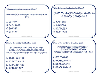 S.E.W.- Standard, Expanded, and Written Forms of Numbers
