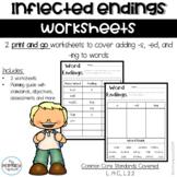 S, ED, ING Worksheets