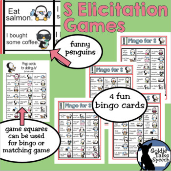 S Elicitation Phrase Games   Speech Therapy    Articulation