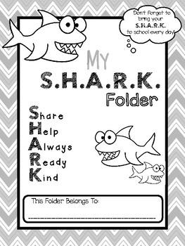 S.H.A.R.K. Folder Binder Cover