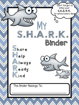 **EDITABLE** S.H.A.R.K. Folder Binder Cover