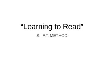 "S.I.F.T. A POEM- LITERARY ANALYSIS ESSAY- ""LEARNING TO READ"""
