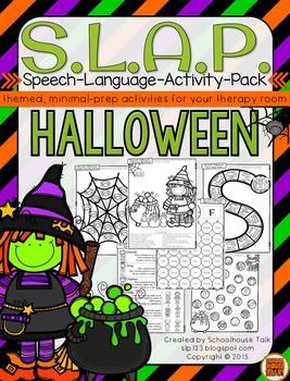S.L.A.P. Halloween {Speech Language Activity Pack}