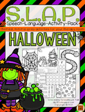 S.L.A.P. Halloween {Speech Language Activity Pack}