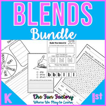 S, L, R Blend Activities and Worksheets, BUNDLE, NO PREP