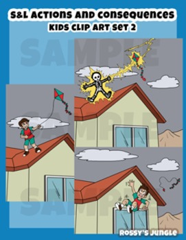 S&L SET 2 Kids clip art: Actions and consequences
