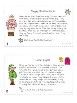 S-Loaded Paragraphs for Christmas/Winter Freebie