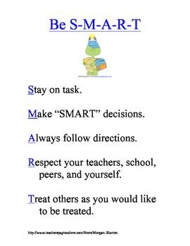 S-M-A-R-T Discipline Plan