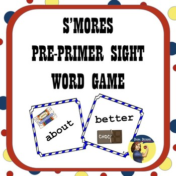 S'Mores Pre-Primer Sight Word Card Game