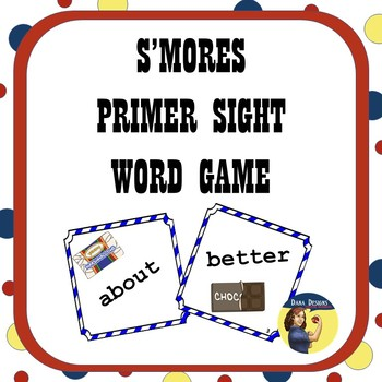 S'Mores Primer Sight Word Card Game