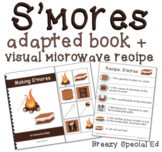 S'mores Visual Recipe, Adapted Book and Worksheets for Special Education