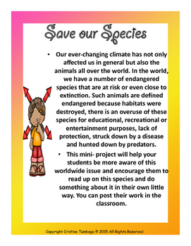 S.O.S. (Save our Species)