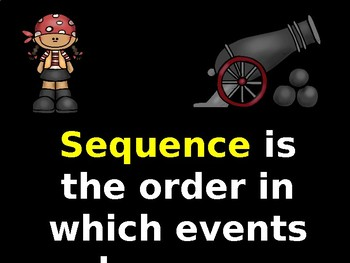 """S.O.S. """"Sequence Our Story"""" Pirate Sequencing Lesson"""