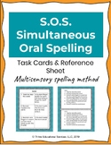 S.O.S. Simultaneous Oral Spelling Task Cards