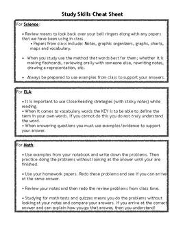 S.O.S. Study Guide Helper