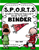 S.P.O.R.T.S. Binder Covers Custom Order for Heather