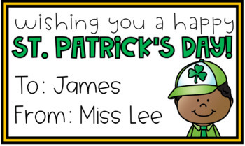 St. Patrick's Day Editable Cards