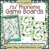 S Phoneme Game Boards
