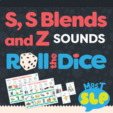 Speech Therapy Roll The Dice Games: S, S Blends, and Z Sounds