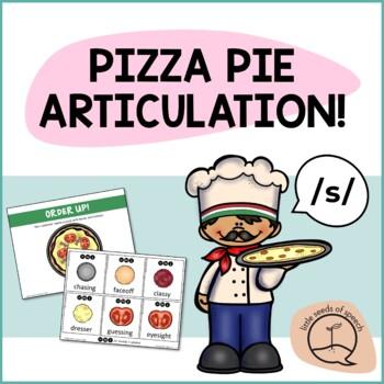 S SOUND Pizza Articulation Cards for Single & Multisyllabic Words & Sentences