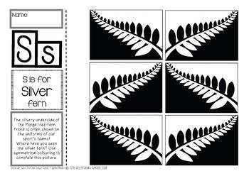 S = Silver Fern {Kiwiana Themed 'Make & Take' Alphabet Set}