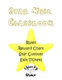 S.T.A.R.S. rules, exit tickets, reward chart, cutouts