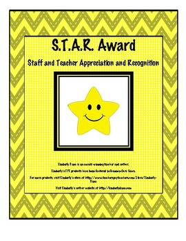 S.T.A.R. (Staff and Teacher Appreciation and Recognition) Award